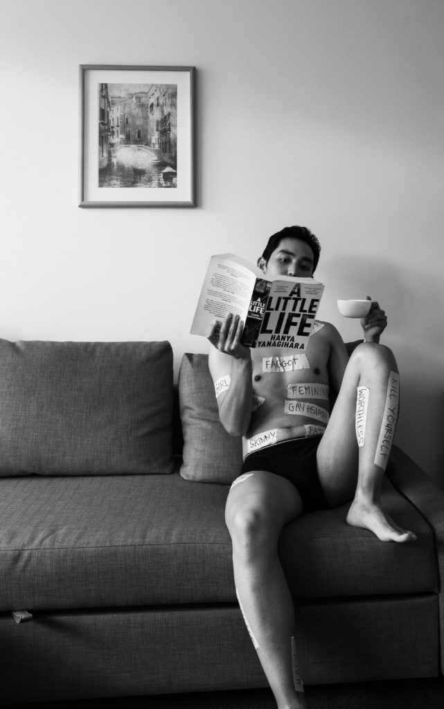 Photo Series - Reading A Little Life with coffee